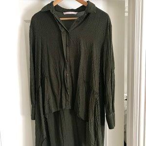 Zara checkered blouse